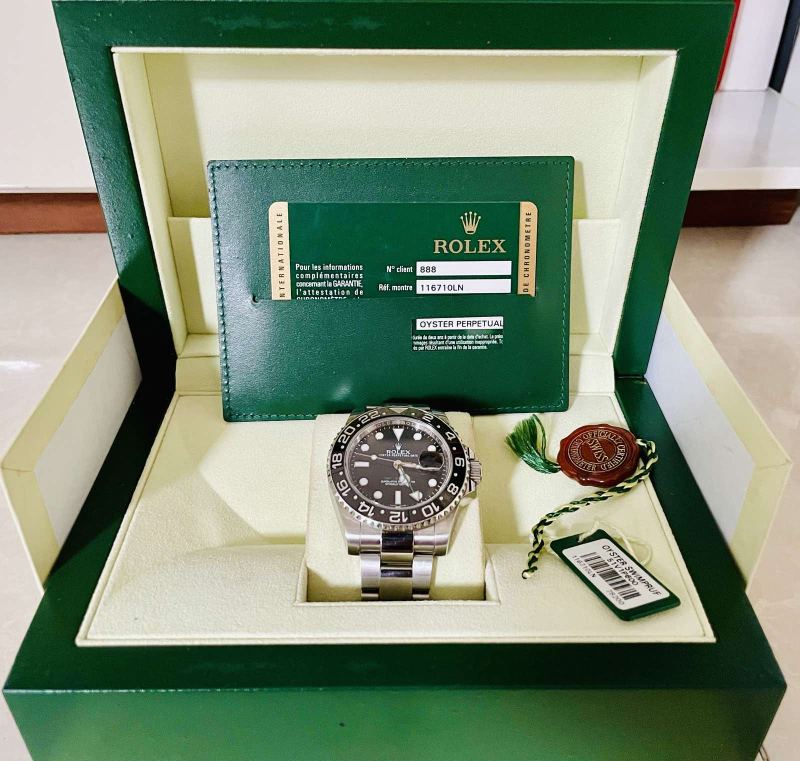 Review Rolex GMT Master II 116710LN